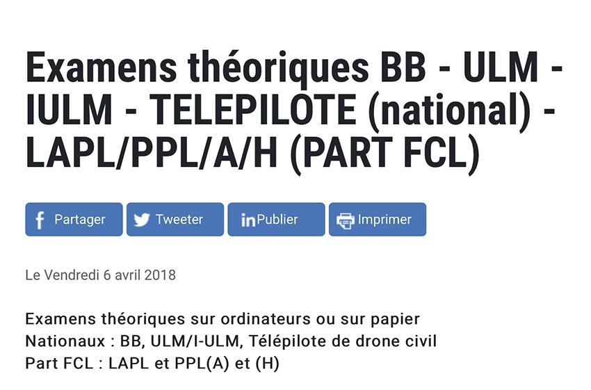 Examen théorique pour pilote de drone – aeroVFR